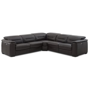 Isham Leather Reclining Sectional