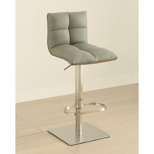 Stange Adjustable Height Swivel Bar Stool Orren Ellis