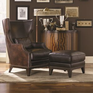Martin Hill Accent Chair and Ottoman by Loon Peak