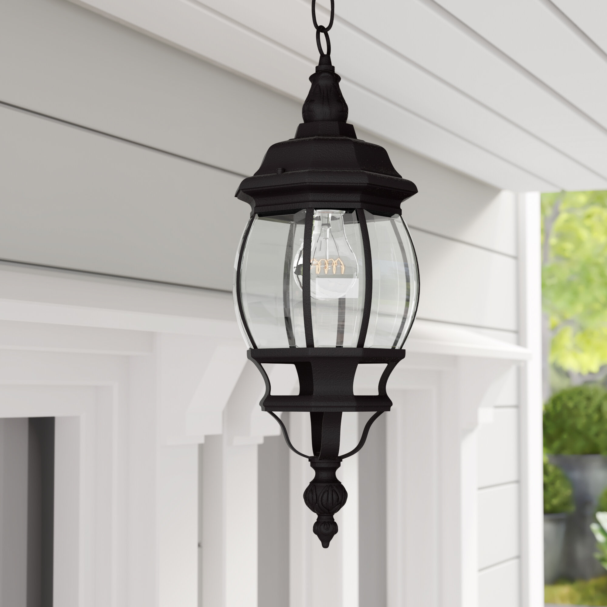Breakwater Bay Frederica 1 Bulb 18 75 H Outdoor Hanging Lantern Reviews Wayfair