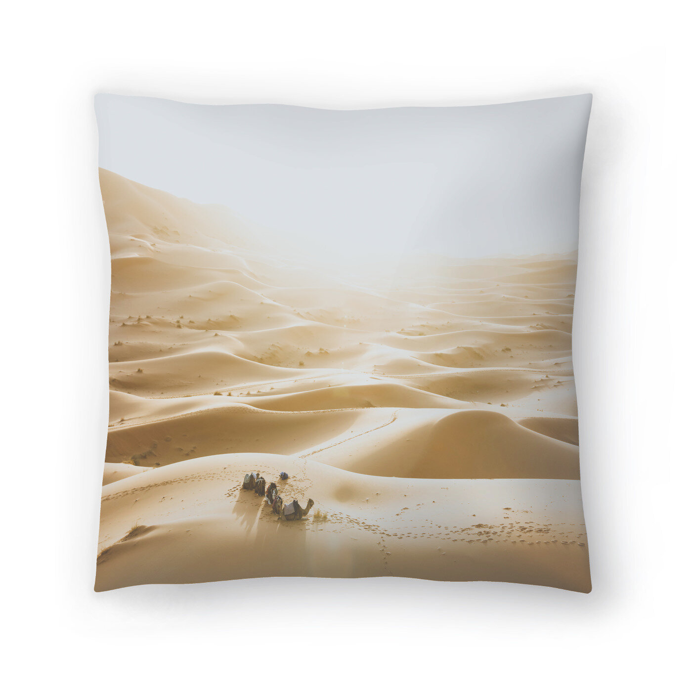 East Urban Home Luke Gram Sahara Desert Throw Pillow Wayfair