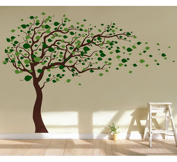 Incroyable Pop Decors Tree Blowing In The Wind Wall Decal U0026 Reviews | Wayfair