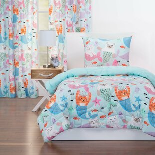 Purrmaids Reversible Comforter Set by Crayola LLC