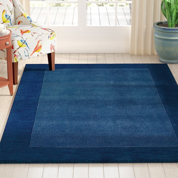 Astounding Bradley Wool Sapphire Blue Area Rug Machost Co Dining Chair Design Ideas Machostcouk