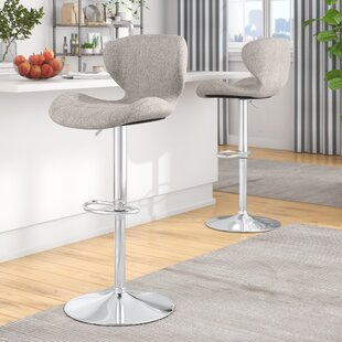 Bice Adjustable Height Swivel Bar Stool (..