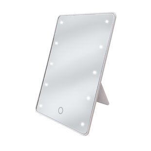 Ginsey LED Stand Up Makeup Mirror with Sensor