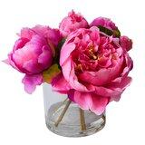 Fresh Cut Peony Floral Arrangements in Jar