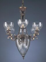 Classic Lighting Warsaw 9-Light Shaded Chandelier