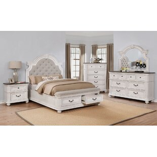 Alisa Upholstered Storage Panel Configurable Bedroom Set by One Allium Way