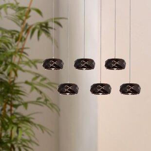Bixby 6-Light LED Cluster Pendant by Orren Ellis