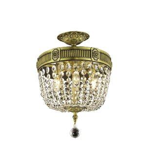 Astoria Grand Ursula 3-Light Ceiling or Semi Flush Mount