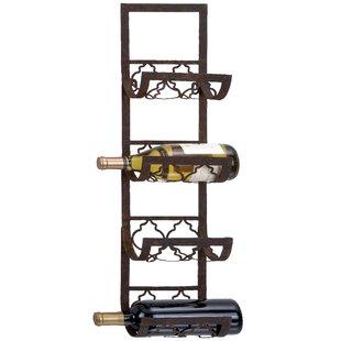Carmack 4 Bottle Wall Mounted Wine Rack By Mercury Row