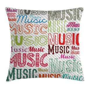 Music Typography Rhythm Funky Pillow Cover 97c60d16d
