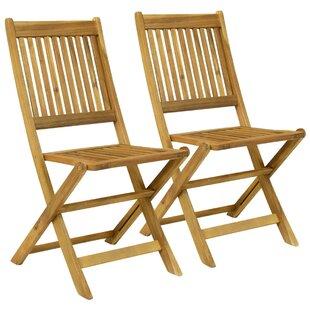 Harwich Wooden Folding Garden Chair (Set Of 2)