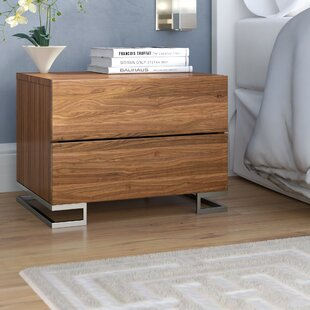 Compare & Buy Domingo 2 Drawer Nightstand by Wade Logan
