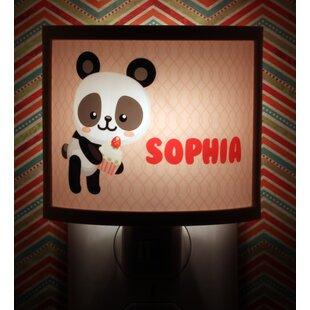 Common Rebels Panda Cupcake Personalized Night Light