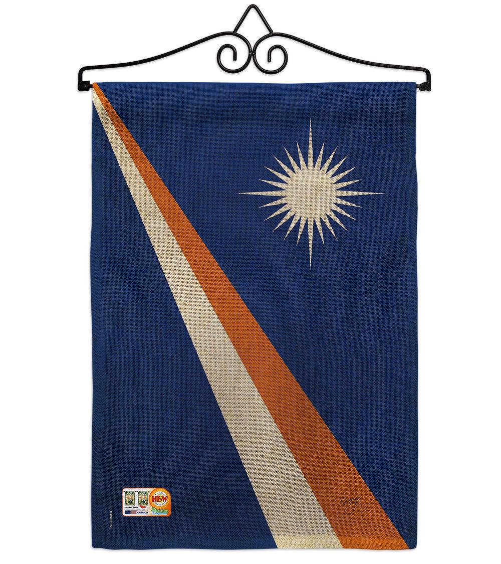 Breeze Decor Marshall Islands 2 Sided Burlap 19 X 13 In Garden Flag Wayfair