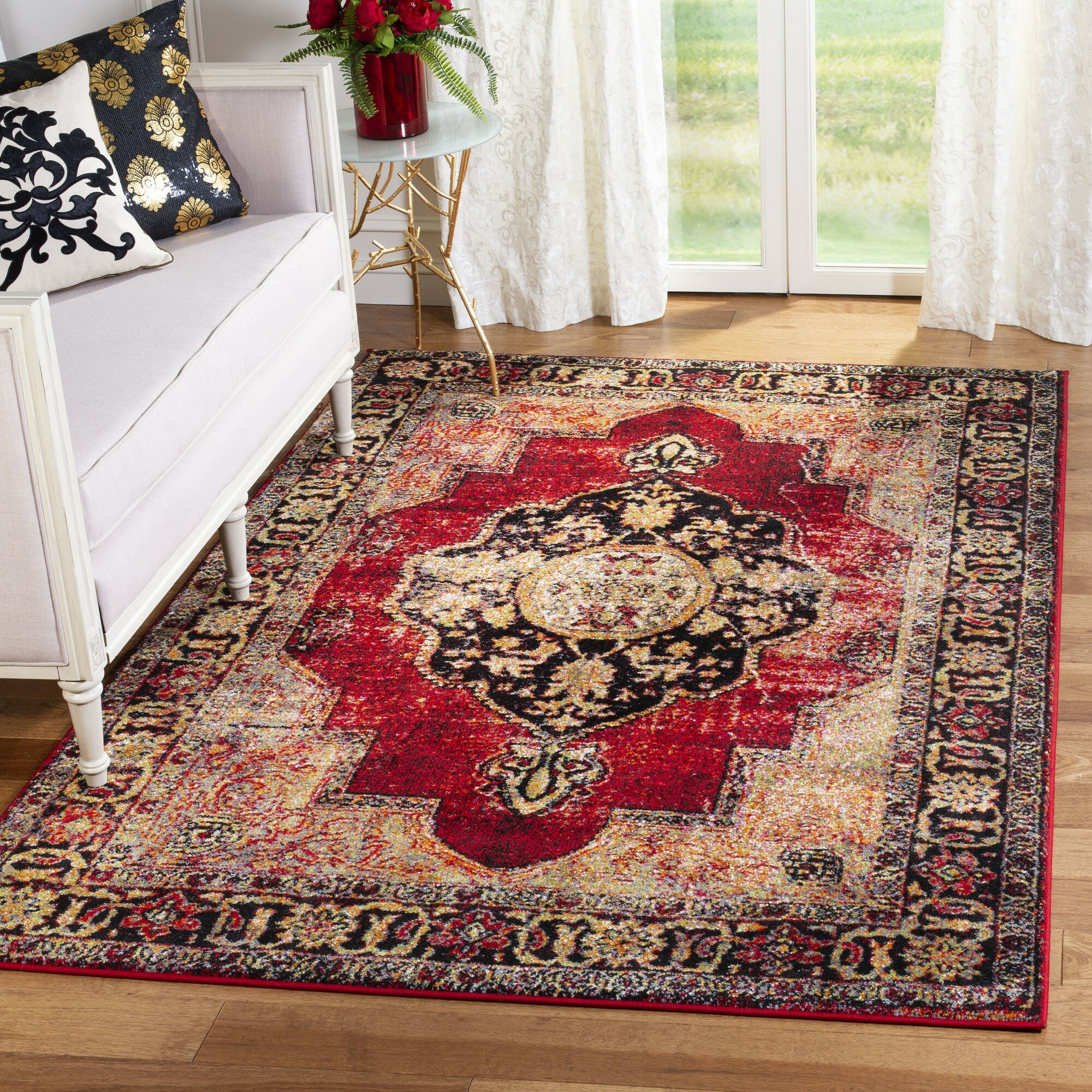 Bloomsbury Market Fitzpatrick Oriental Red Multi Area Rug Reviews Wayfair Ca