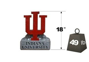 Indiana IU Logo College Mascot Garden Stone By Henri Studio