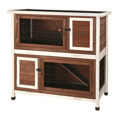 2 Story Small Animal Hutch Archie & Oscar Color: Brown / White