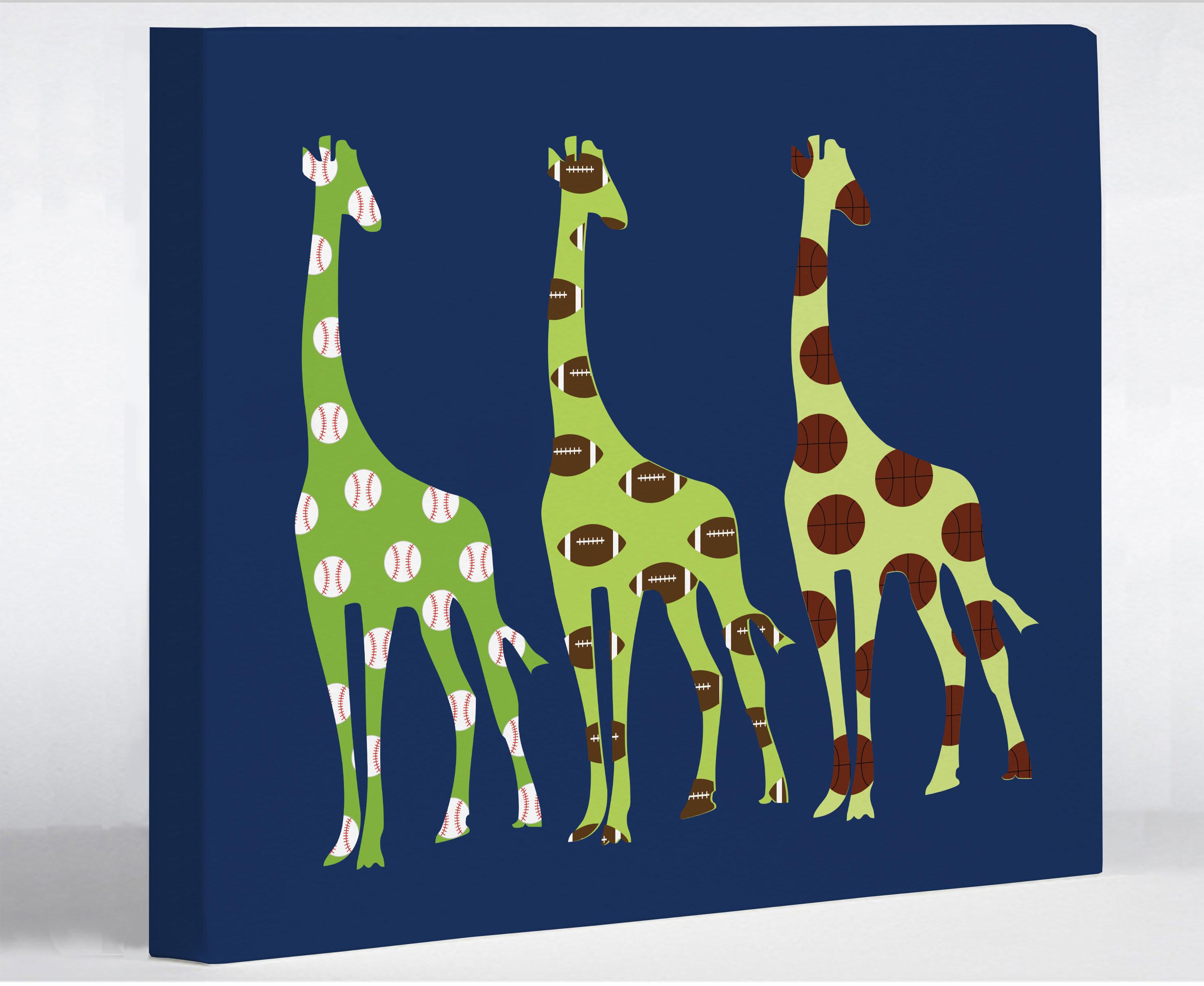 One Bella Casa Giraffe Graphic Art On Wrapped Canvas Wayfair