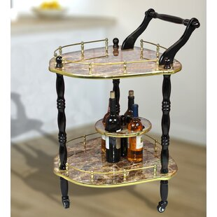Otterville 2-Tier Elegantly Shaped Bar Cart