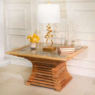 Atmore Slatted Wood Coffee Table