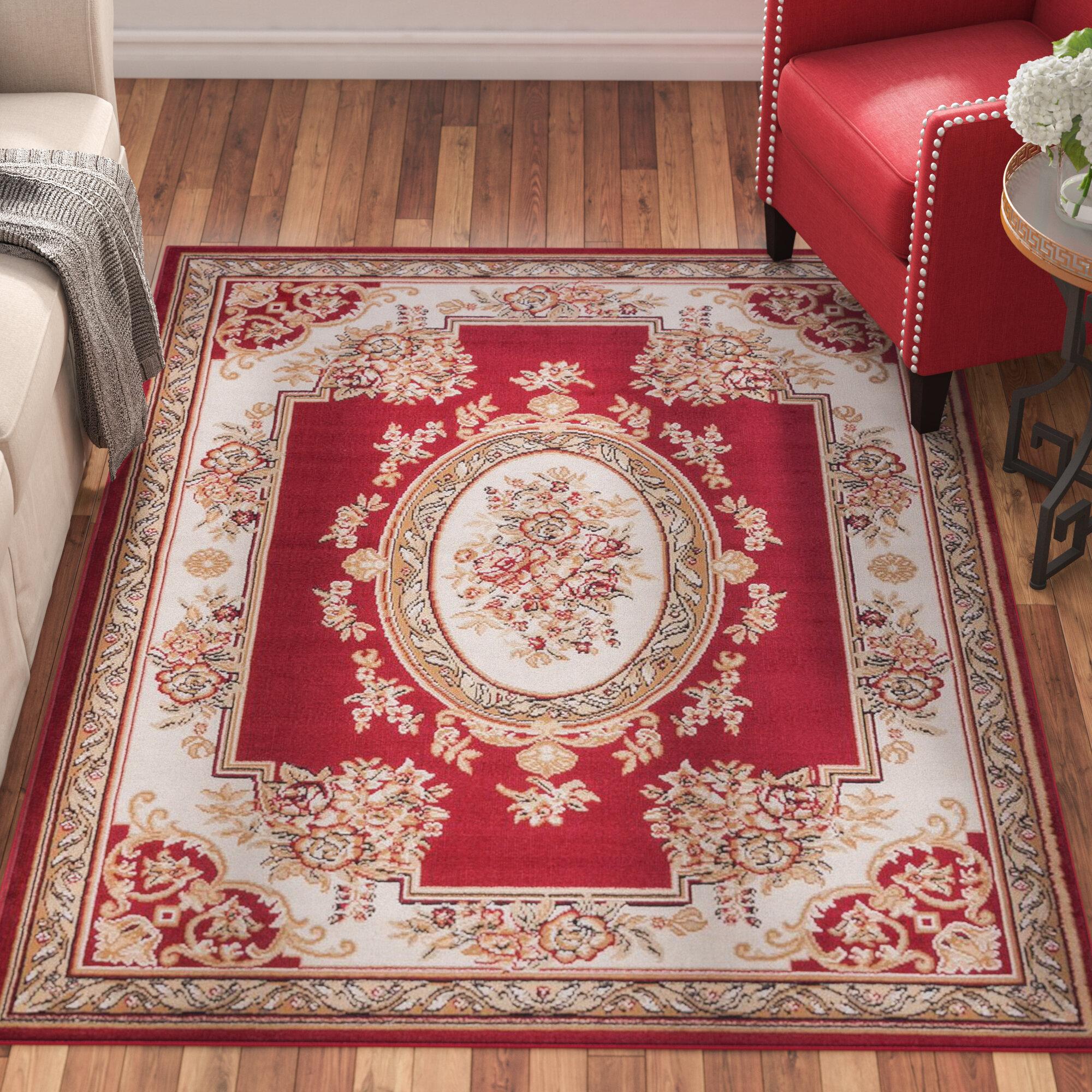 Astoria Grand Rectangle Coggrey Oriental Power Loom Red Rug Reviews Wayfair