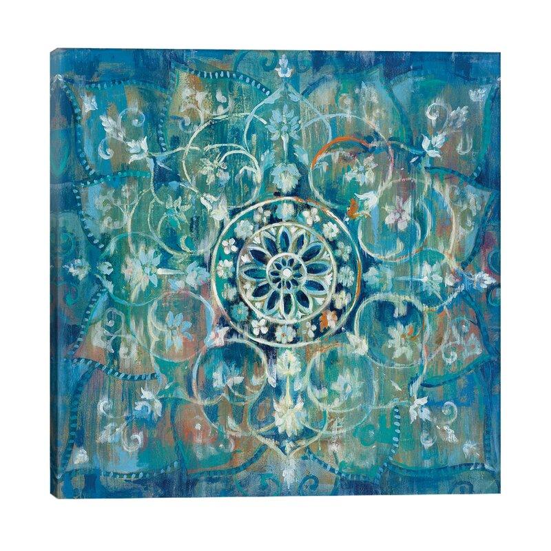 Ebern Designs Mandala In Blue Iii By Katsushika Hokusai Wrapped Canvas Graphic Art Print Reviews Wayfair Co Uk