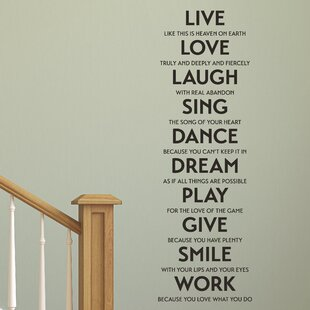 Live Love Laugh Sing Etc Wall Quotes Decal