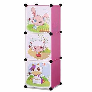 Savings Lora Children's 3 Level Collapsible Multipurpose Animal Themed Storage Organizer Cubes 14W Plastic Closet System ByZoomie Kids