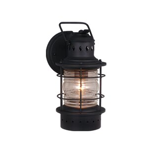 Affordable St. Lucia 1-Light Outdoor Wall Lantern By Beachcrest Home