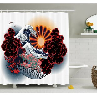 Tattoo Brave Native American Warrior Chief of Tribe with Noble Horse Shower Curtain Set