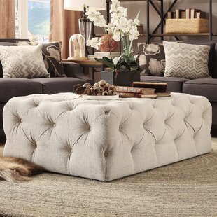 Bourges Tufted Cocktail Ottoman by Lark Manor
