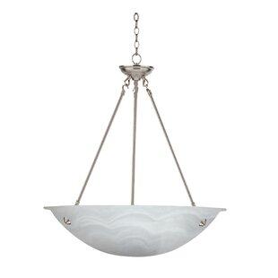 Beautiful glass bowl chandelier wayfair alana 3 light bowl pendant aloadofball Images