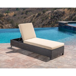 Koerner Reclining Chaise Lounger with Cushion by Red Barrel Studio