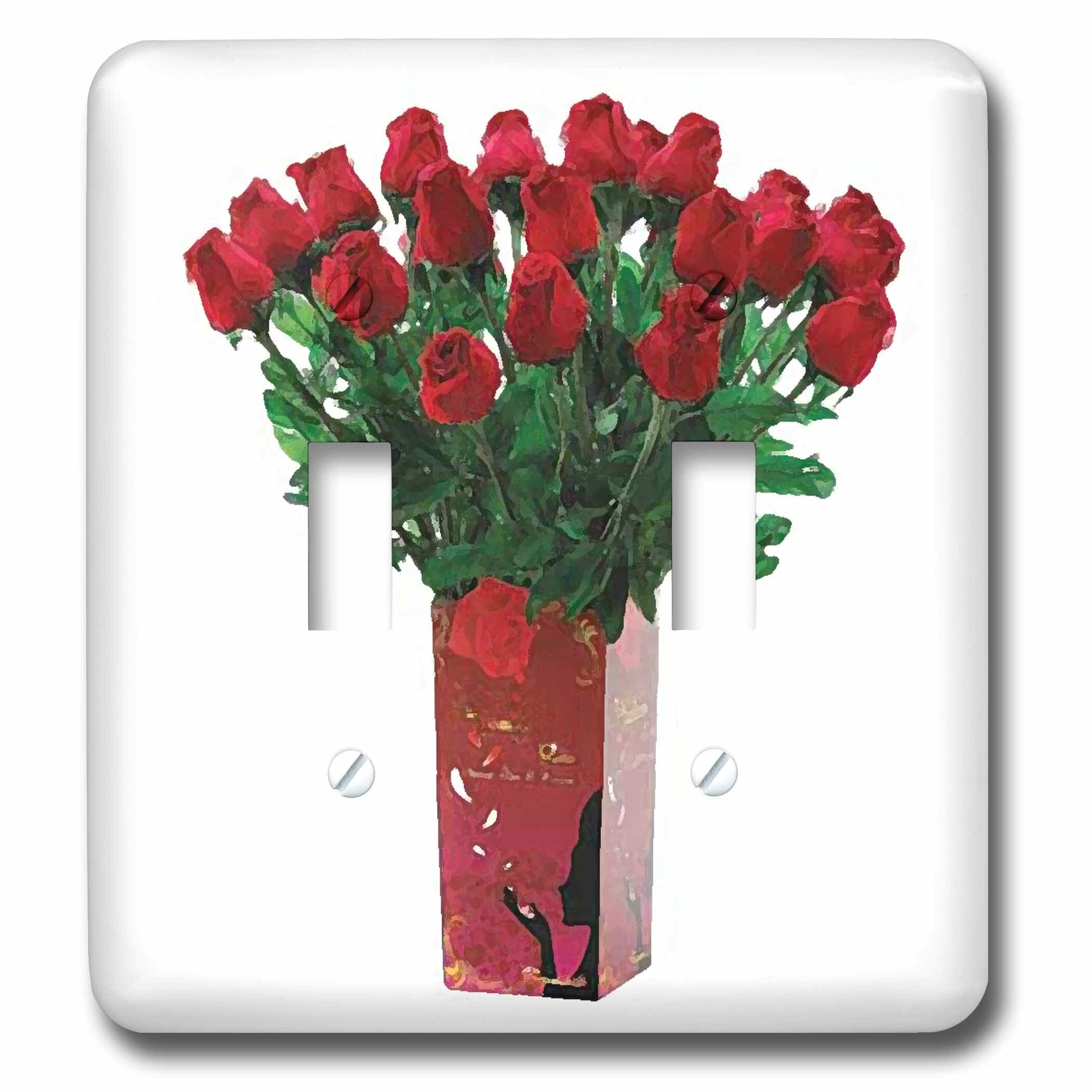 3drose Valentines Day Roses 2 Gang Toggle Light Switch Wall Plate Wayfair