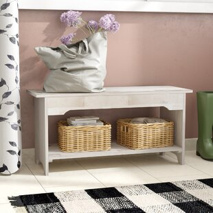 Mistana Lynn Wood Storage Bench
