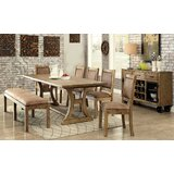 Ocegueda 7 Piece Solid Wood Dining Set by Andrew Home Studio