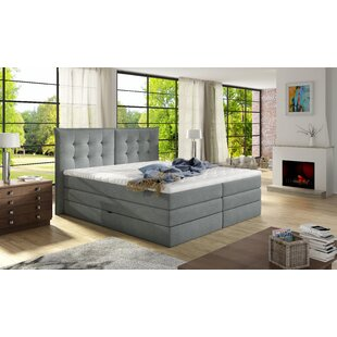 Brayden Studio Schwager Upholstered Storage Panel Bed with Mattress