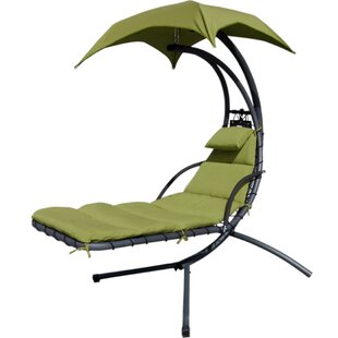 Latitude Run Weathers Hammock Hanging Chaise Lounger with Stand