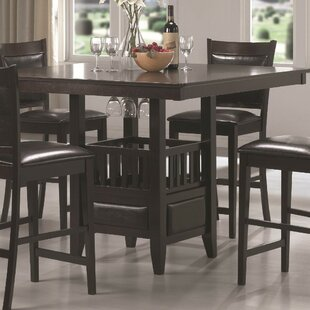 Jenkin Counter Height Solid Wood Dining Table by Winston Porter Read Reviews