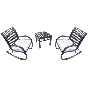 Noble 3 Piece Dining Set with Cushions by..