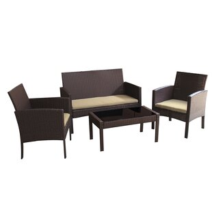Tessio 4 Piece Sofa Set With Cushions