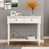 35 Solid Wood Console Table by Dovecove