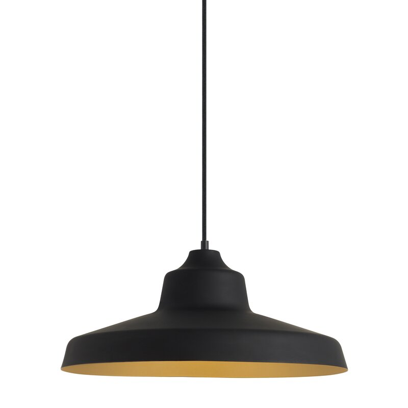 "18"" diameter Black Barn Style Pendant Light #modernfarmhouse #farmhousekitchen #barnpendant"