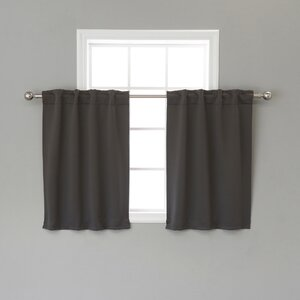 Lenore Solid Blackout Thermal Rod Pocket Curtain Panels (Set of 2)