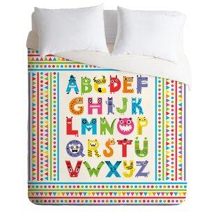 East Urban Home Alphabet Monsters Duvet Cover Set