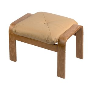 Natural Finish Leather Ottoman by Holsag