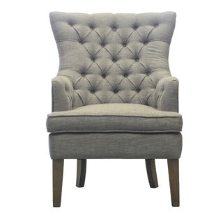 Ophelia & Co. Kalmanovitz Button Tufted Wingback Chair